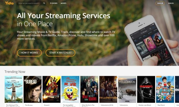Yidio free movie streaming sites