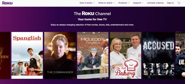 The Roku Channel free movie streaming sites