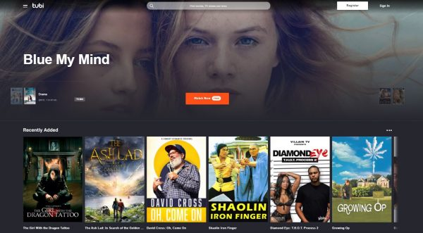 Tubi free movie streaming sites