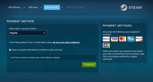 Gift Steam Wallet Funds Step 7