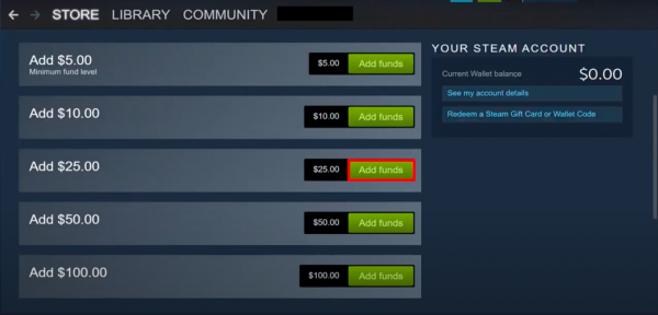 Cash in to the Steam App Step 3