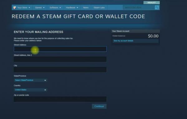 Redeem a Giftcard Step 3