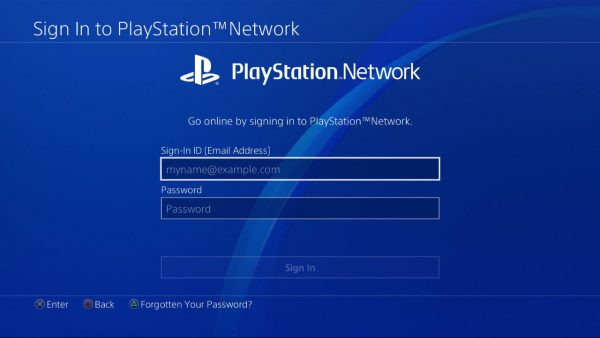 PSN Sign In