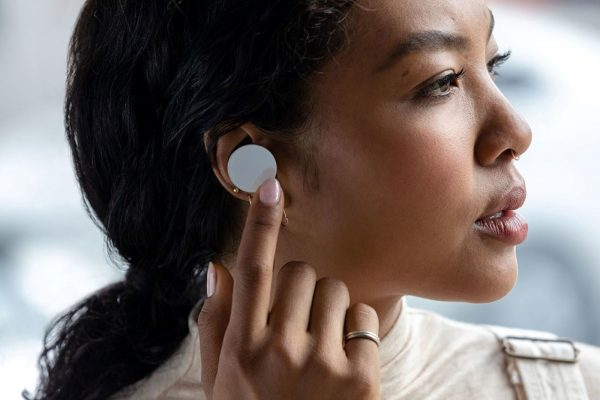 Surface Earbuds worn by Woman
