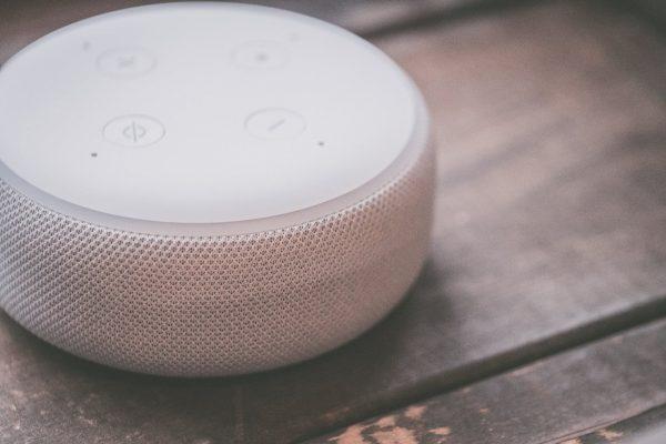 White smart speaker