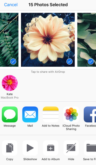 how to transfer photos from iPhone to computer through AirDrop