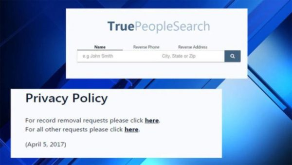 True People Search Privacy