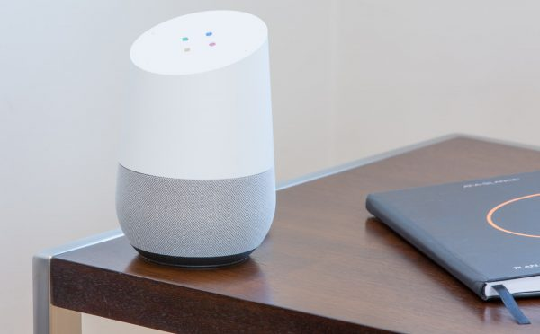Google Home smart speaker with Google Virtual Assistant