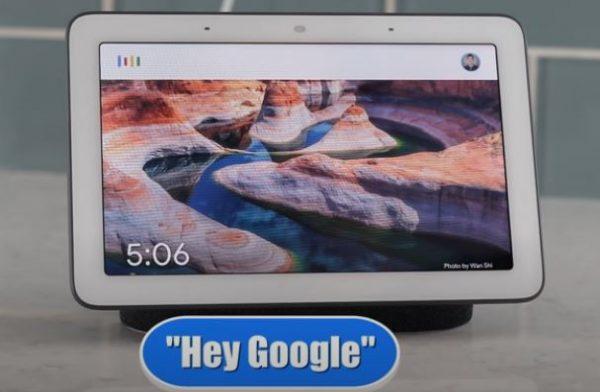 hey google Google home hub