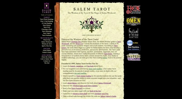 Salem Tarot: Free Tarot Card Reading