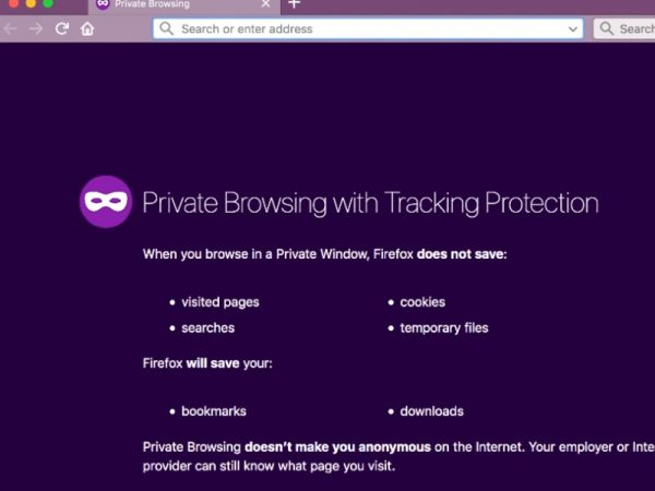 Private Browsing Mozilla