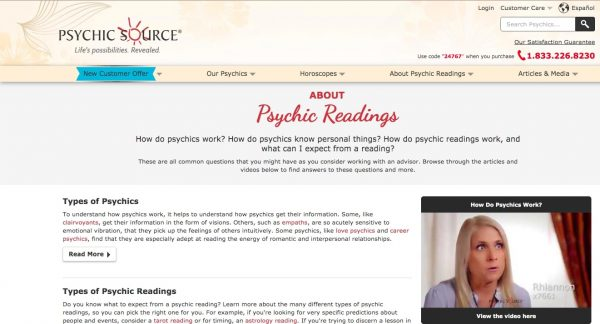 Psychic Source: Free Tarot Card Reading