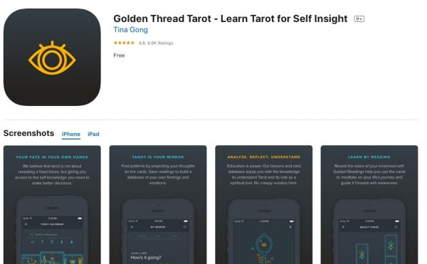 Golden Thread Tarot: Free Tarot Card Reading