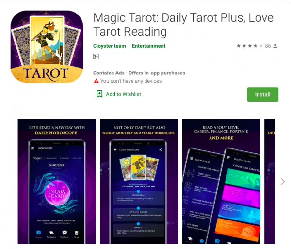 Magic TarotDaily Tarot Plus, Love Tarot Reading
