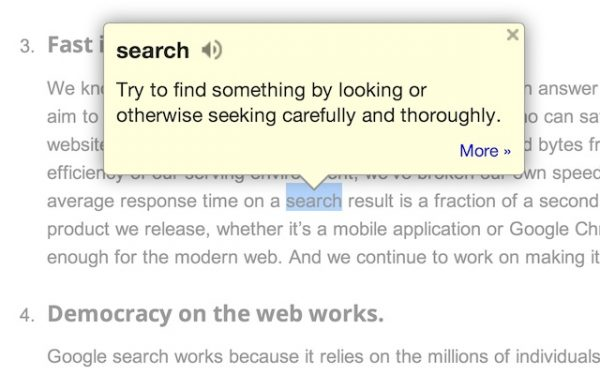 Google Dictionary (by Google) Chrome Extensions
