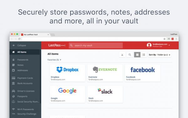 Extensiones de LastPass Chrome
