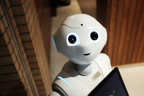 White humanoid robot