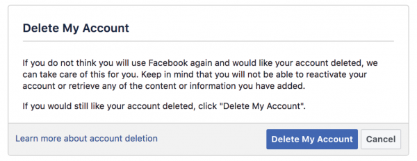 What Happens When I Choose To Delete My Facebook?