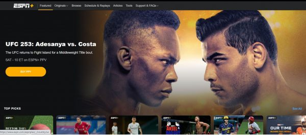ESPN+ Website 2
