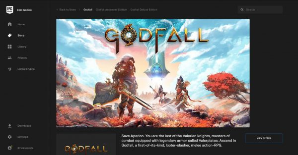 Godfall Epic Games