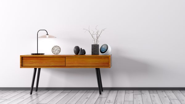 Amazon Echo Spot on Table