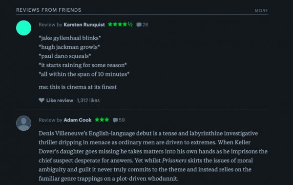 Letterboxd reviews