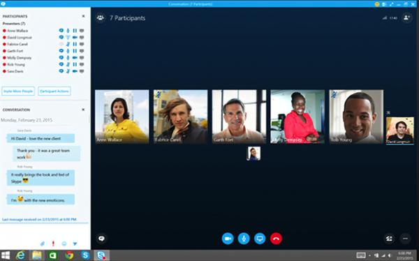 zoom vs skype video call participats