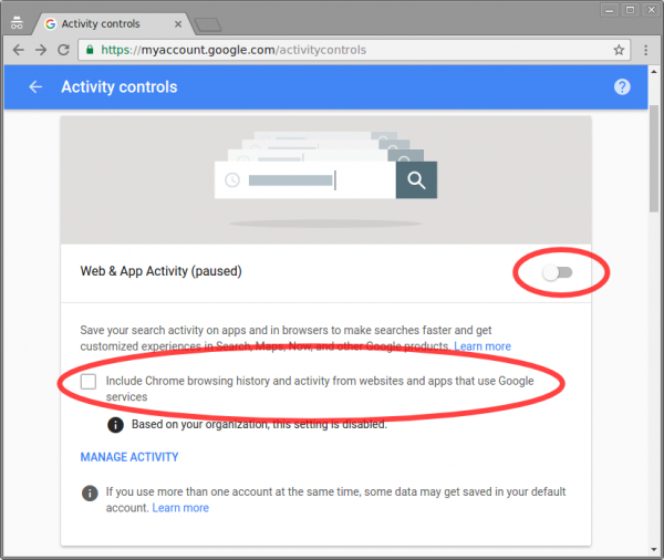 How To Pause Web & App Activity on Chrome