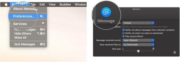 Messages Preferences