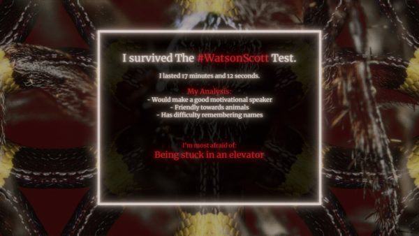 The Watson Scott Test Horror Game
