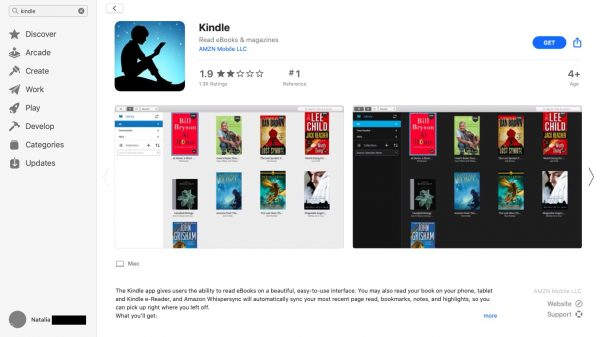 Download Kindle from Play Store or App Store