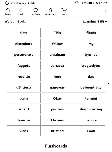 Use vocabulary builder to master words