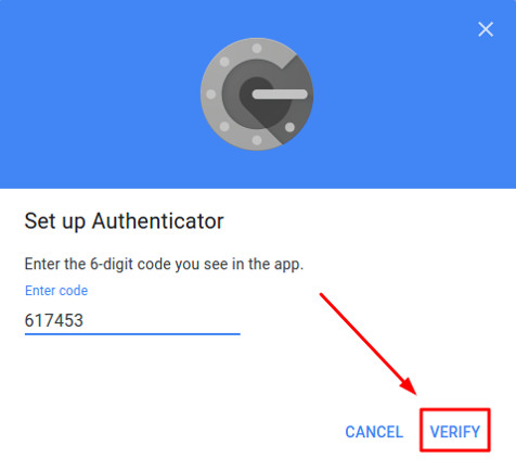 verify code