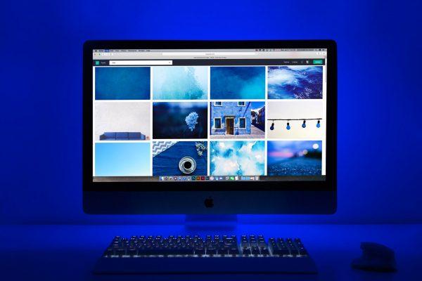 Blue theme computer