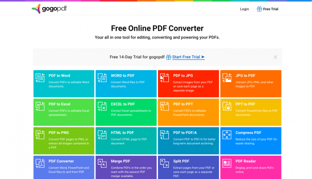 GogoPDF: The Internet's Best Online PDF Converter