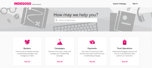 indiegogo review: Customer Service