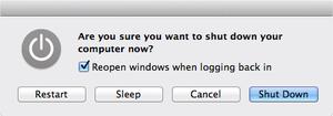 shut down mcbook Pro