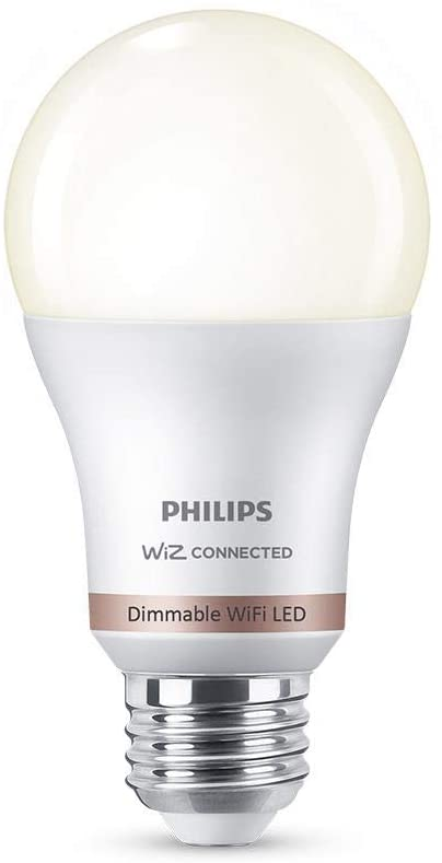 http://Philips%20Dimmable%20A19%20Smart%20Wi-Fi%20WiZ%20Light%20Bulb