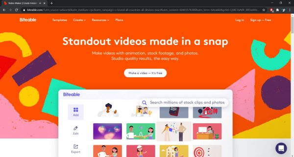 Top free online video editor: Biteable
