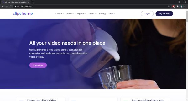 Top free online video editor: ClipChamp