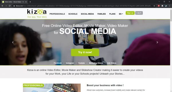 Free online video editor: Kizoa