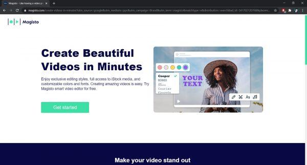 Top free online video editor: Magisto