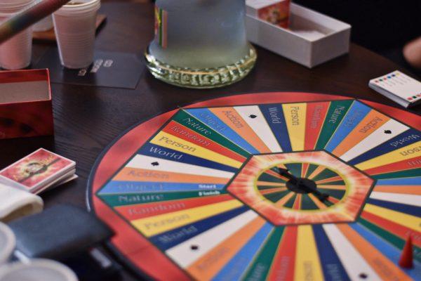 Dart Board on Table