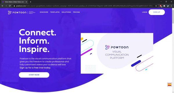 PowToon online video editor website