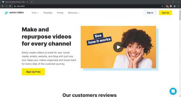 Wave.Video online video editor website