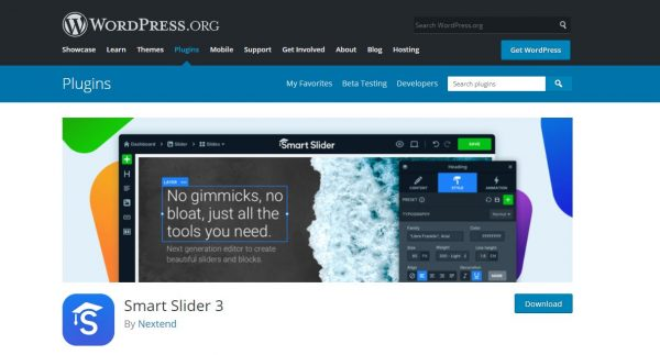 smart slider wordpress plugin