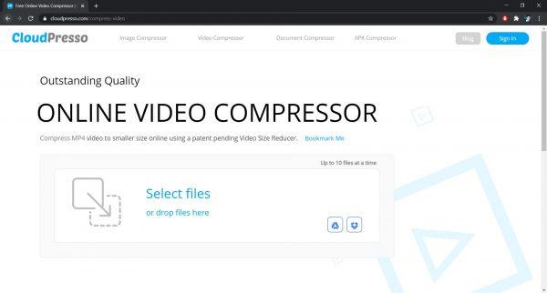 CloudPresso: A software to compress videos