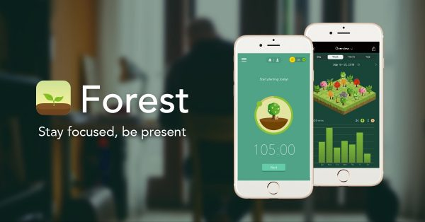 Forest, one of the best study apps