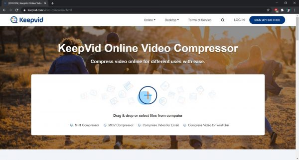 KeepVid: Best site to compress videos