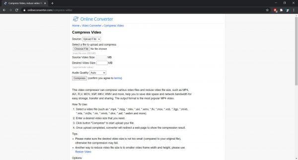 Online Converter: Best site to compress videos